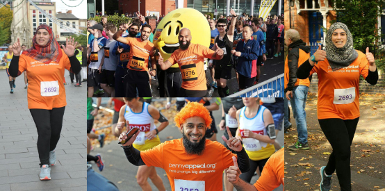 Team Orange running Luton's Half Marathon