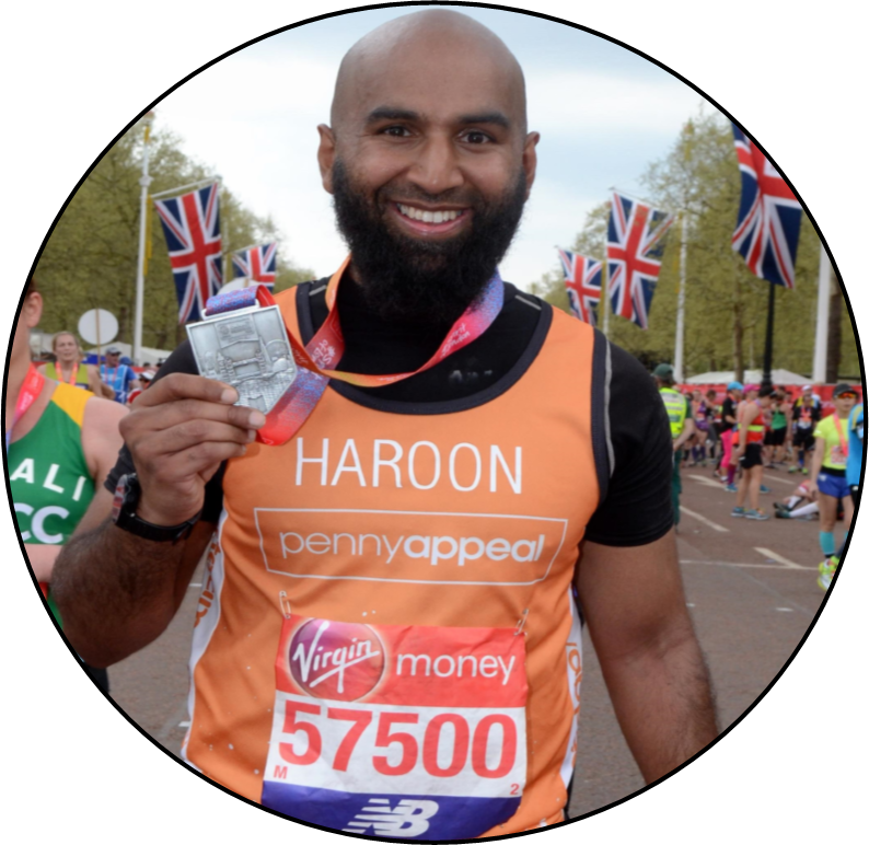 Haroon Mota shows his medal