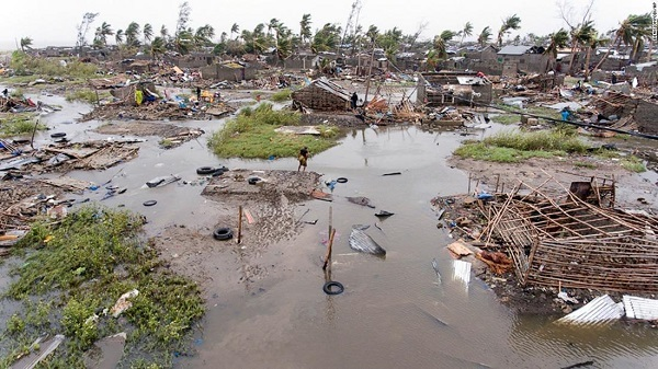 Cyclone Idai wreckage