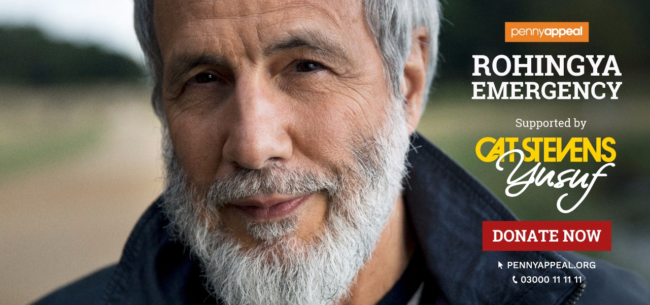 Cat Stevens Yusuf supports Rohingya Emergency - Penny Appeal. Donate Now clicking here. Telphone: 03000111111