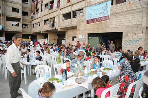 Feeding hundreds of people in Lebanon