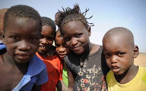 Needy children in Mauritania