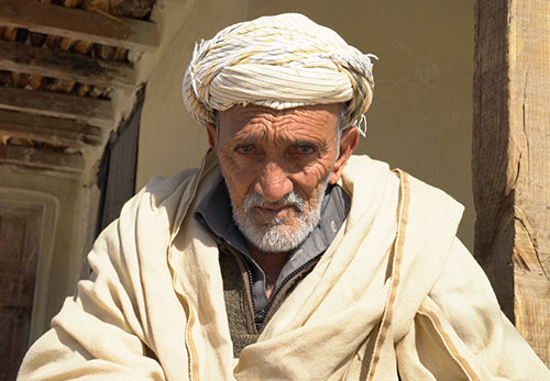 Elderly Hungry Pakistani