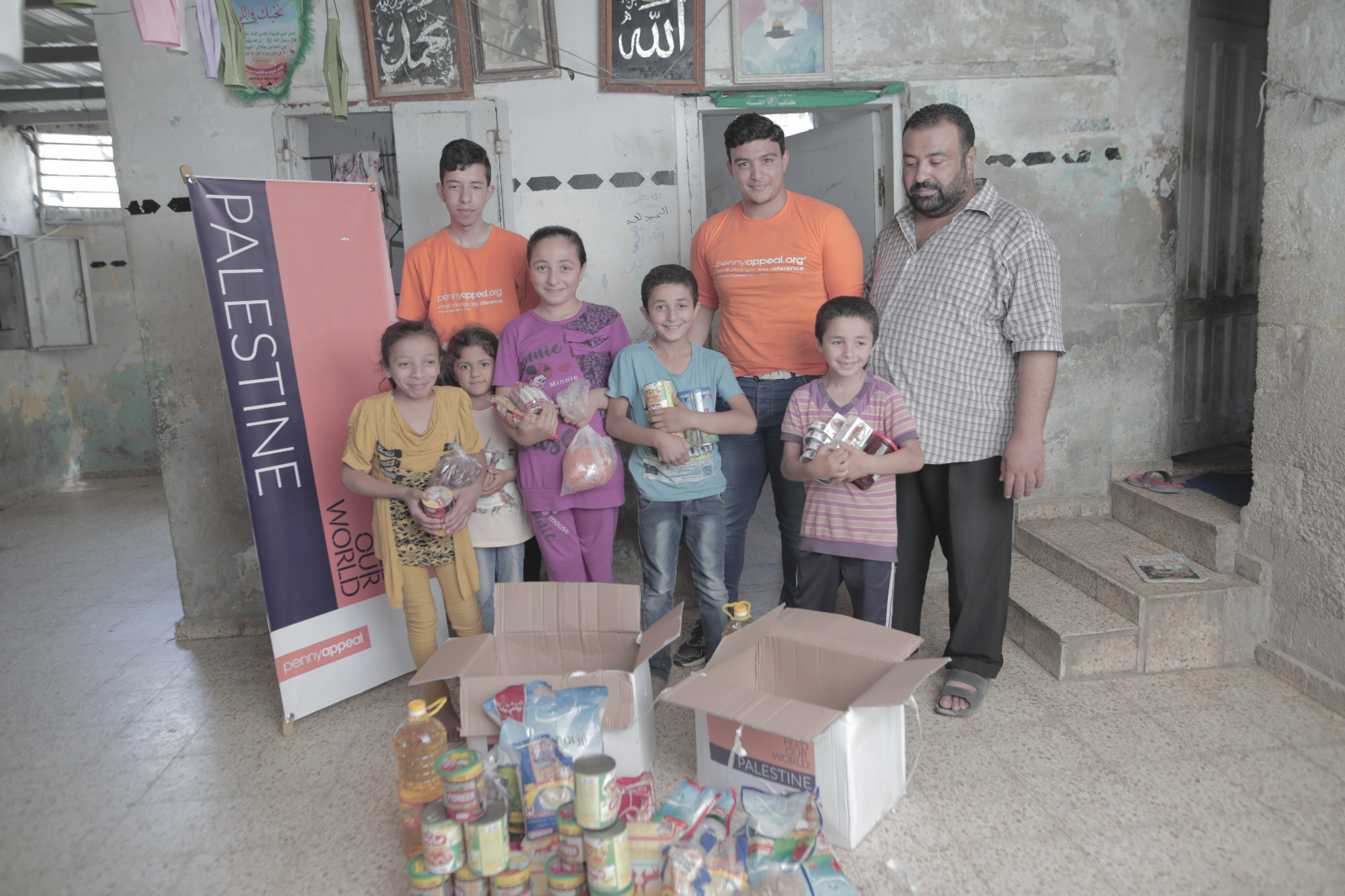 Penny Appeal feeding the hungry in Palestine