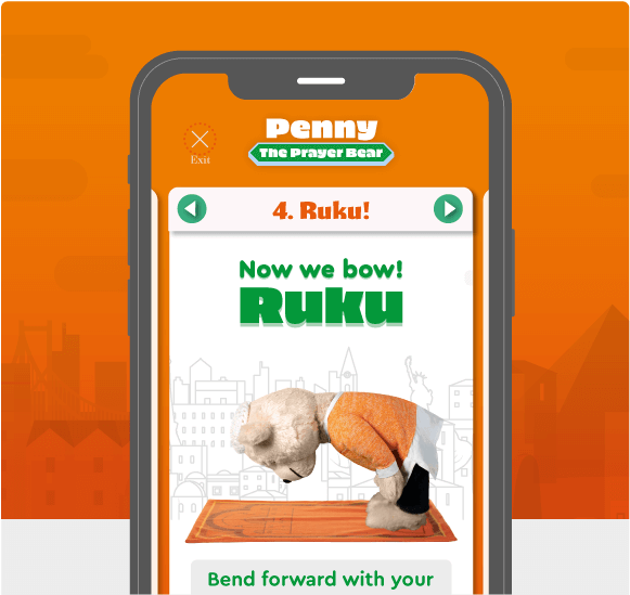 Learn how to pray with Penny the Bear's app
