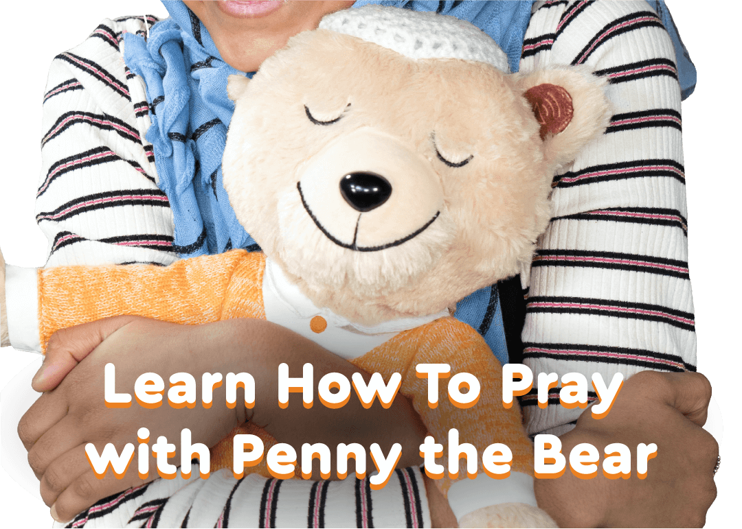 Learn how to pray with penny the bear