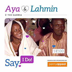 Aya and Lahmin at their wedding in The Gambia
