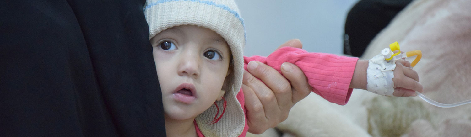 Syrian girl receive health care