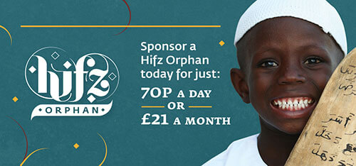 Sponsor a Hifz Orphan for 70p a Day