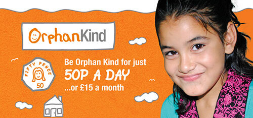 Sponsor an Orphan for 50p a day