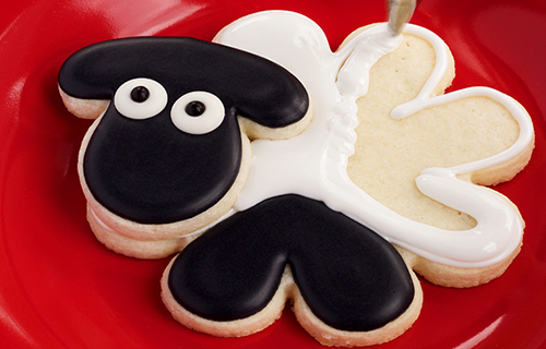 Sugar Cookie in the shape of a sheep