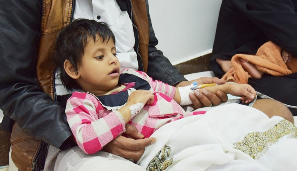 Starving child in Yemen