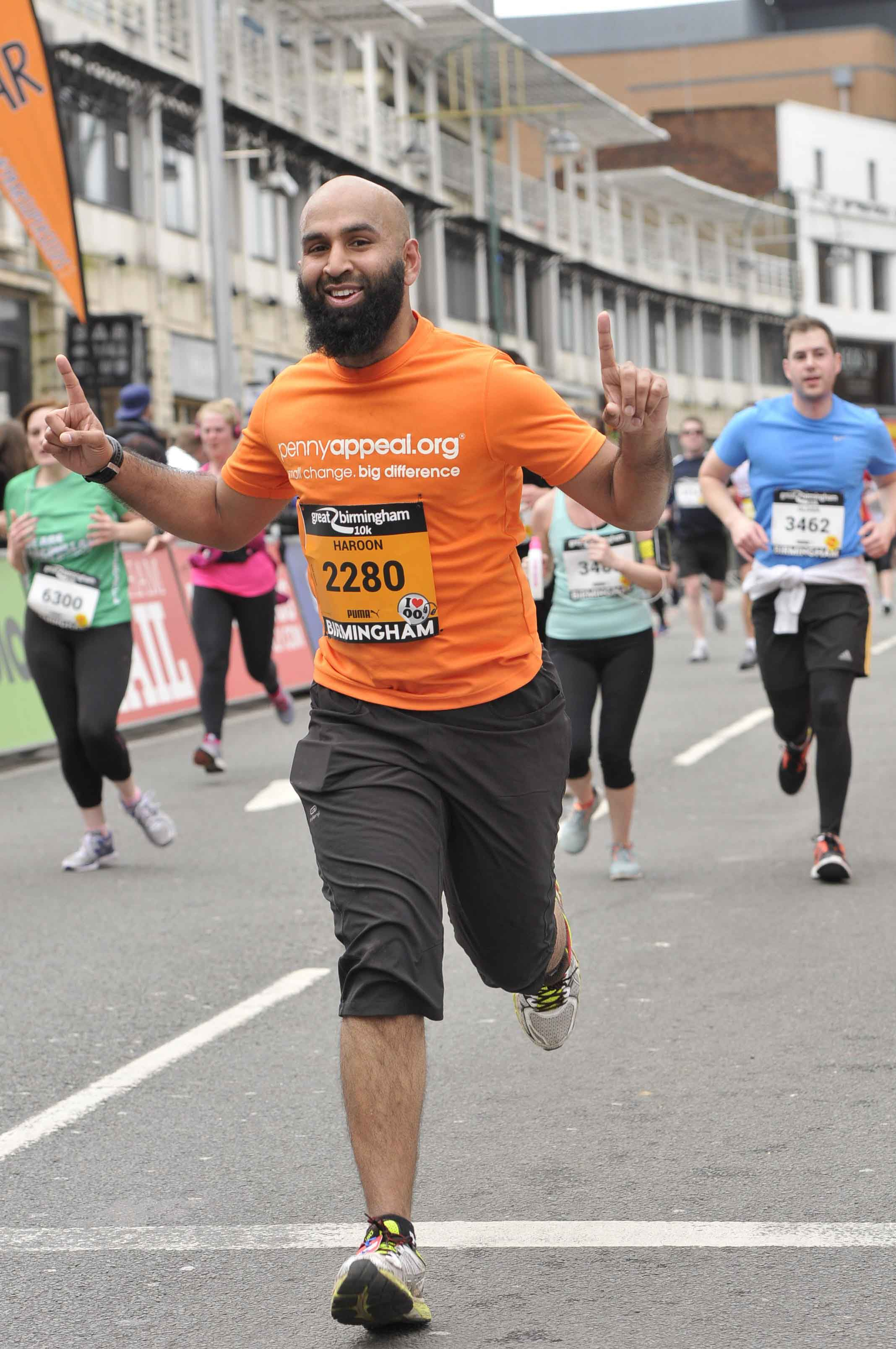 Haroon in the Great Birmingham 10k