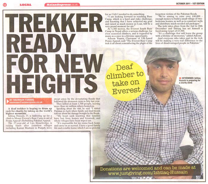 Trekker ready for new heights - asianexpress.co.uk